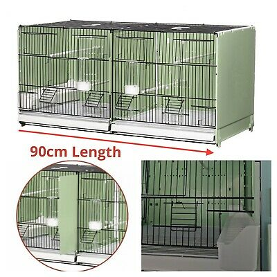 £96 • Buy 90cm 35  Plastic Double Breeding Cage With Divider - Budgie, Canary, Finch