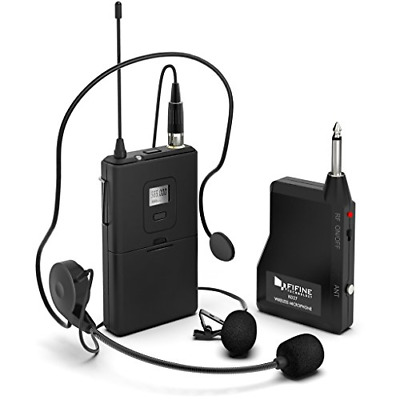 £67.96 • Buy Wireless Microphone System,FIFINE Wireless Microphone Set With Headset And Lapel