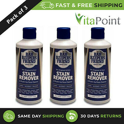 £7.50 • Buy 3 Pack - Bar Keepers Friend Stain Remover Original Powder 250g