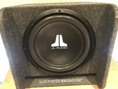 AU250 • Buy JL Audio Car Subwoofer - CP112W0-4 12  Sub In Carpeted Box Bass Wedge Like New