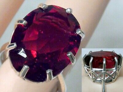 £56.08 • Buy Red Ruby Ring Size 6 925 Sterling Silver Large 20ct Usa Made
