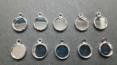 £3.70 • Buy 10 X 10 Mm Round Cabochon Pendant Trays Bezels Settings, Jewellery Making Crafts