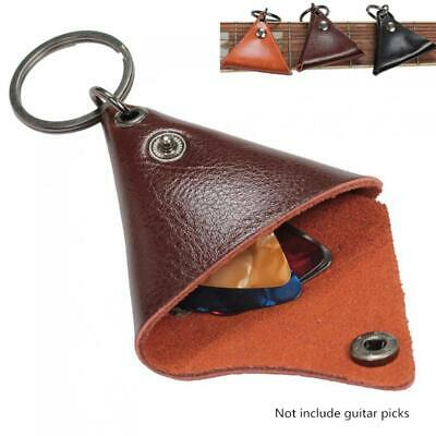 $ CDN5.63 • Buy Leather Guitar Pick Holder Case Pocket KeyChain Unique Fashionable Picks Case