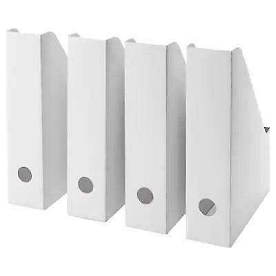 Ikea Fluns White Magazine Office File Organiser Holder Paper Storage Box Folder • 6.85£