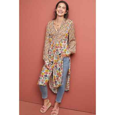 $ CDN82.79 • Buy New Anthropologie Lucia Tunic Blouse By Bl-nk  SMALL $150