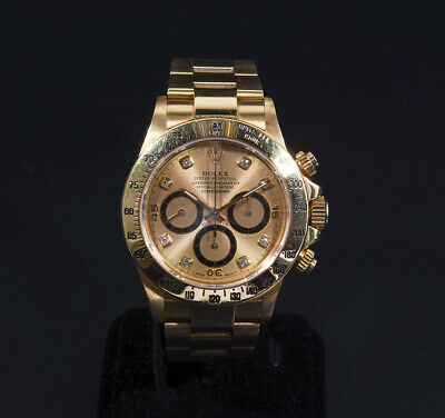 $ CDN44401.35 • Buy Rolex Daytona 16528G L Zenith Inverted 6 18K Yellow Gold Champagne Men's Watch