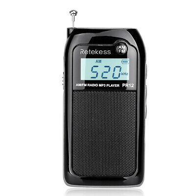 £17.38 • Buy Pocket FM/AM Radio Receiver Digital Tuning MP3 Player Rechargeable Walkman Gift