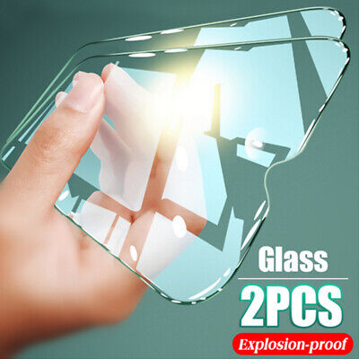 AU5.54 • Buy 2 Pack 9H Tempered Glass Phone Screen Protector Clear Film Cover For Smart Phone