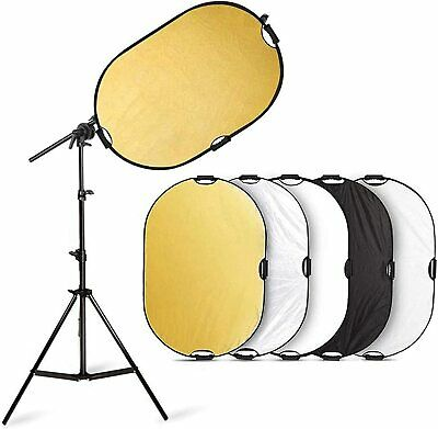 Selens Photography 5in1 Collapsible Light Reflector W/ Holder Arm Boom Stand Kit • 14.99£