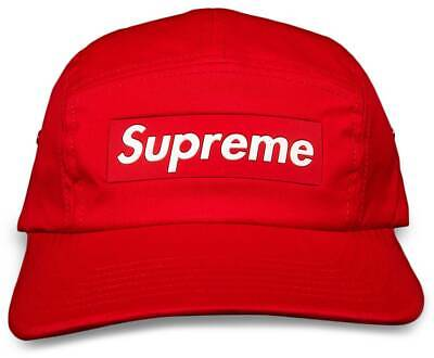 $ CDN101.19 • Buy Supreme Inset Box Logo Camp Cap  RED  Hat FW20