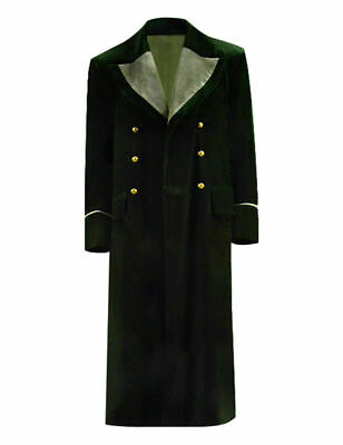CosDaddy Doctor Who 8th Green Winter Long Jacket Coat Cosplay Costume • 51£
