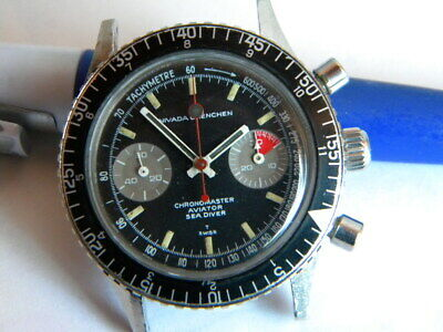 $ CDN3179.25 • Buy Vintage Nivada Grenchen Chronomaster Aviator Sea Diver Watch Valjoux 23
