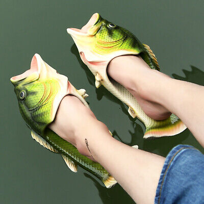 $ CDN31.46 • Buy Funny Fish Shape Animal Slippers Shoes Good Gift For Fisherman Man Cool Looking