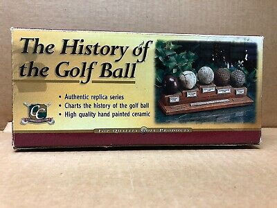 Clubhouse Collection The History Of The Golf Ball Ceramic Display, Original Box • 19.98£