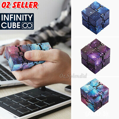 AU8.75 • Buy Fidget Infinity Cube Sensory Autism Anxiety Stress Relief Hand Magic Puzzle Toys