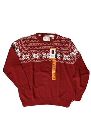 $23.99 • Buy NWT Weatherproof Vintage Sweater Mens 2XL Red Holiday Christmas