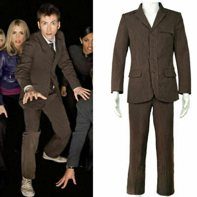 Doctor Who Dr Brown Cosplay Pinstripe Business Suit Men'S Fancy Dress • 47£