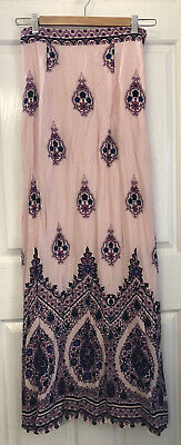 AU54.95 • Buy Arnhem Skirt Size S Small Peony Pink Colours Gorgeous Flowers Floral RARE