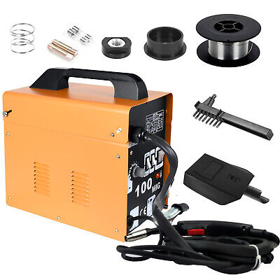 Portable Welder MIG-100 No Gas Auto Wire Feed 230V Welding Machine Electric Kit • 79.99£