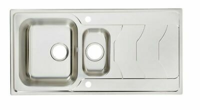 Cooke & Lewis Buckland 1.5 Bowl Polished Stainless Steel Sink & Drainer • 49.99£