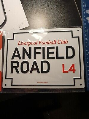 Liverpool FC Metal Road Sign  Official Merchandise • 9£