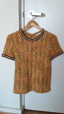 AU20 • Buy Pre-owned Zara Short Sleeves Knitted Top Size S / AU8