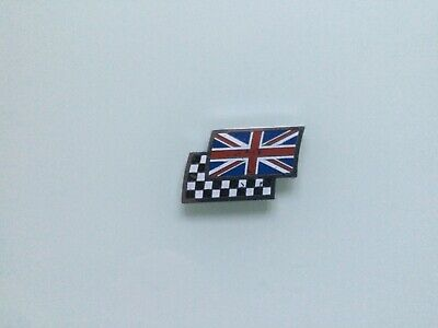 £1.99 • Buy Mg Stick On Union Jack/chequered Flag Badge