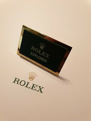 Vintage Rolex Explorer Dealer Display Plaque *Amazing Condition* *EX RARE* • 179.99£
