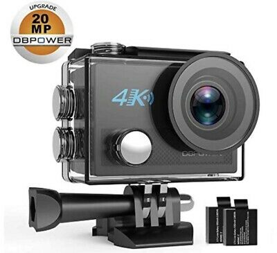 DBPOWER N5 4K Action Camera 98FT Underwater Camera Wide Angle Accessories Kit  • 28£