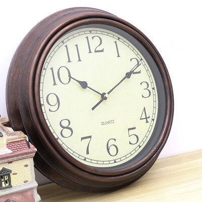 AU21.80 • Buy 12 Inch Wall Clock Quartz Round Wall Clock Silent Non Ticking Battery Operated