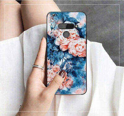 AU14.50 • Buy For LG V30 Plus LG K50 Q60 Case Cover Flower Print Back Tpu Pc Back ESG Design