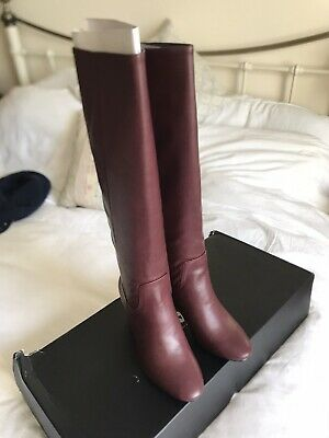 Knee High Boots Size 5 Red Burgundy • 20£