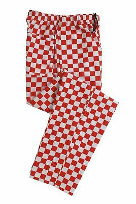 Denny's Red And White Checked Chef Trousers - NEW! Sizes M • 12£