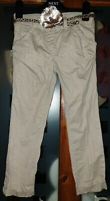 £6.75 • Buy Lovely Girls Beige Chinos With Belt, Age 6 Years, Next, With Adjustable Waist