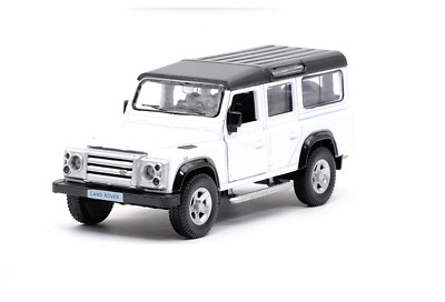 Land Rover Defender - White - Diecast Model Toy Car • 12.99£