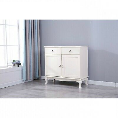 £283.95 • Buy French Style 2 Drawer 2 Door Sideboard Cupboard Wooden Cabinet Chest Living Room
