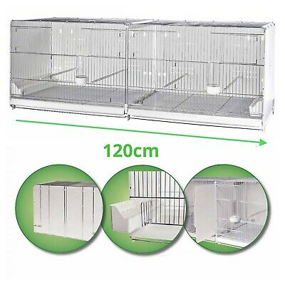 £115 • Buy 120cm 47  Plastic Back Double Breeding Cage With Divider - Budgie, Canary, Finch