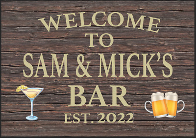 £8.09 • Buy Personalised Home Bar Sign Shed Garage Metal Wall Plaque Man Cave Garden Fun