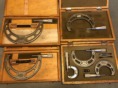 $250 • Buy NSK YUXBW 0-6  Set, Japan Outside Micrometer, Carbide Anvil .0001  W/ Wood Cases