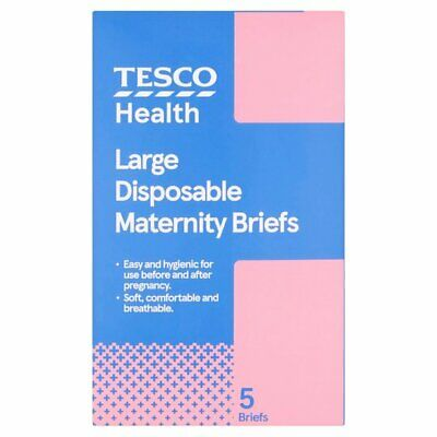 £6.99 • Buy TESCO 5 Maternity Disposable Briefs Large 18-20