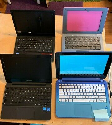 $ CDN158.94 • Buy LOT OF 4 Laptops: Hp Stream X360, Samsung 500c Chromebook, Evoo READ