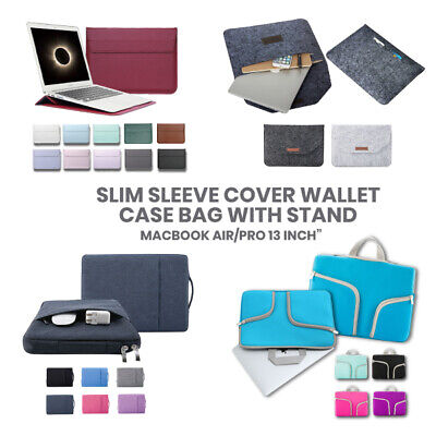 AU18.95 • Buy Macbook Air Pro Retina 13' Inch Slim Colored Case Cover Bag Wallet Sleeve Stand
