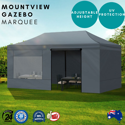 AU239.39 • Buy Mountview Gazebo Marquee 3x6 Outdoor Tent Gazebos Camping Canopy Mesh Side Wall