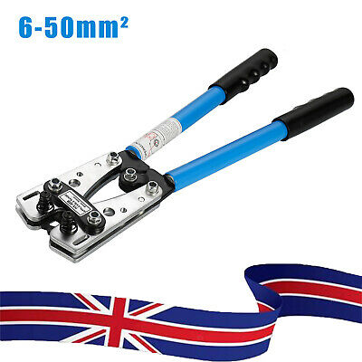 £15.49 • Buy 6-50mm² Wire Terminal Crimper Battery Cable Lug Crimping Hand Tool Electrician