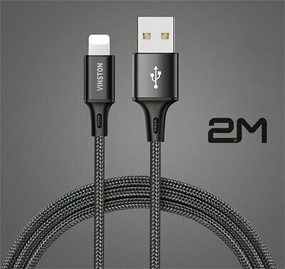 2M Fast USB Charger Cable For IPhone 12 11 XS XR X 8 7 6 IPad Charging Data Lead • 3.99£