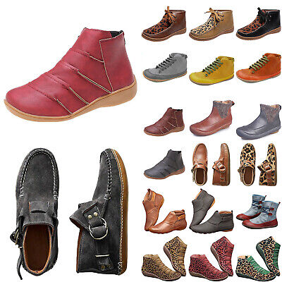Womens Causal Arch Support Ankle Boots Ladies Winter Autumn Flat Booties Shoes • 18.39£