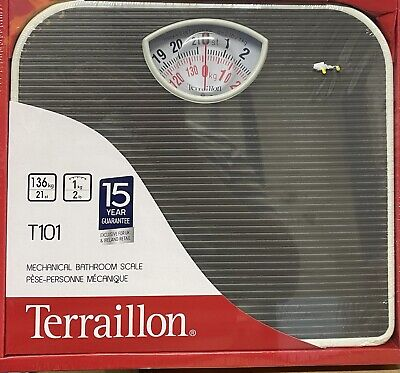 £17.99 • Buy Durable Black Mechanical Bathroom Weighing Scales By Terraillon Home Stone Kg
