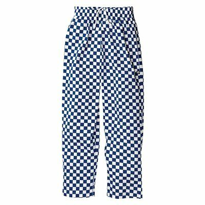 £12 • Buy Chef Trousers Blue And White Large Checked Bowstones. XXL