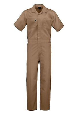 $24.95 • Buy Men's Short Sleeve Cotton Blend Coverall With Multi Pockets
