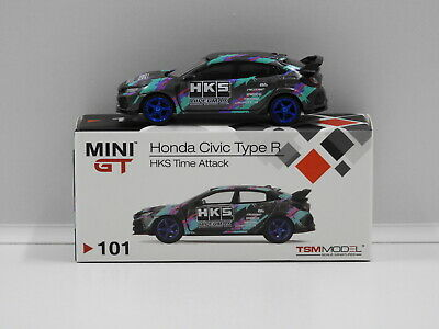 AU38.95 • Buy 1:64 Honda Civic Type R (FK8) HKS 2018 Time Attack LHD True Scale Miniatures MGT